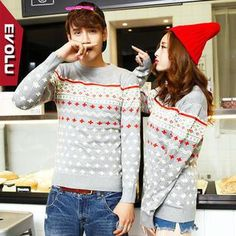Cross Print Couple Sweater from #YesStyle <3 Evolu YesStyle.com