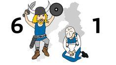Ruotsi 6 - Suomi 1 - illustration @ Stina Tuominen