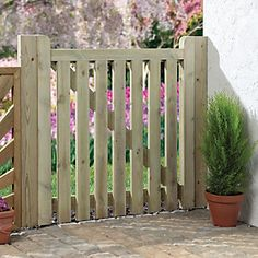 Give a Luxurious Look to your Garden with Wooden garden gates wooden garden gates wickes palisade open slatted timber gate - 915 x 895 mm DHATDHE Wooden Garden Gate, Garden Gates And Fencing, Wooden Driveway Gates, Timber Gates, Wood Gates, Slatted Fence Panels, Fence Gate Design, Wooden Screen Door, Gate Hinges