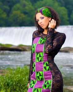 Its African inspired. ~African Prints, African women dresses, African fashion styles, African clothing, Nigerian style, Ghanaian fashion