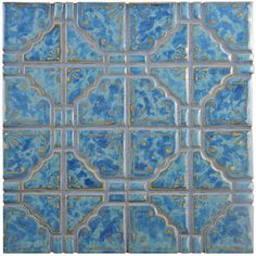 "Found it at AllModern - Moonlight 11.75"" x 11.75"" Porcelain Mosaic Tile in Pacific Blue"