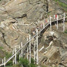 Fykantrappa - hiking in historical surroundings Tromso, Lofoten, Stair Climbing, Visit Norway, Norway Travel, Arctic Circle, Mount Rushmore, Hiking, Stairs