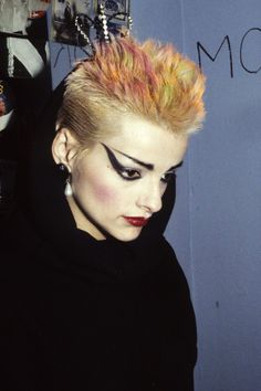 Nina Hagen…European punk, she's actually from Germany, but the make up is good