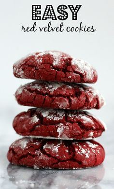 Already planning your holiday cookie spread? Try these easy red velvet cookies and The Greatest Holiday Cookie Recipes Ever