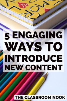 5 Engaging Ways to Introduce New Content Need a quick way to introduce new content that will grab your students' attention? You can be sure that at least one of these five engaging strategies will be perfect for your lesson! Teaching Methods, Teaching Strategies, Teaching Ideas, Student Teaching, Differentiation Strategies, Differentiated Instruction, Help Teaching, Instructional Coaching, Instructional Strategies