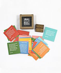 Love this Small Squares With Mighty Words Bible Verse Set by Thimblepress on #zulily! #zulilyfinds