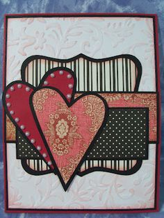 Dramatic black accents - could be a nice Valentine's Day or Anniversary card!