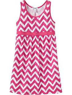 Girls Printed-Jersey Tank Dresses | Old Navy Maddie NEEDS this dress! $15.00