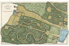 Hand-Colored  Garden    Design, C. 1780