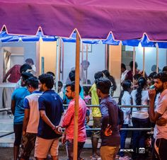 Queues of people wait in line for the free food served up from various stalls and eateries.  #KnowSL #SriLanka #Vesak #Lanterns #FestivalofLight #SriLankaTravel  Copyright © Crintech Pvt Ltd.