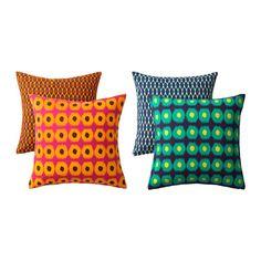 NB: FÅS IKKE I DANMARK - ØV! JASSA Pudebetræk IKEA Du kan nemt variere udtrykket, for de 2 sider har forskellige mønstre. Lynlåsen gør det nemt at tage betrækket af.