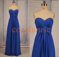 Royal Blue Long Prom Dresses Long Bridesmaid Dresses by cocohouse