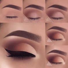 Einfache schritt-für-schritt-make-up-tutorials für anfänger im letzten trend. Beginner Eyeshadow, Eyeshadow Step By Step, Eyeliner For Beginners, Makeup Step By Step, Makeup Tutorial For Beginners, Beginner Makeup, How To Apply Eyeliner, How To Apply Makeup, Applying Makeup