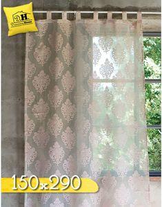 Tenda finestra shabby chic New Crema Collection Blanc Mariclo 80 x ...
