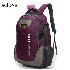 34995c1a8e30 30L Nylon Sports Backpacks Teenage Girls Men s Laptop School Bag Large  Outdoor Bicycle Backpack Waterproof Rucksack