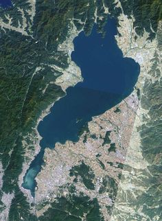lake biwa is the largest fresh-water lake in japan, located in shiga prefecture Shiga, Nara, Kyoto, Pokemon Live, Japanese Literature, Earth From Space, Weird Creatures, Capital City, Japan Travel