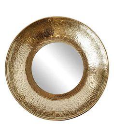 Look at this #zulilyfind! Gold-Plated Hammered Metal Mirror #zulilyfinds