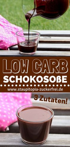 Schokosoße ohne Zucker Recipe for a low carb chocolate sauce without sugar from only 3 ingredients Low Carb Sweets, Low Carb Desserts, Low Carb Recipes, Real Food Recipes, Paleo Dessert, Low Carb Chocolate Cake, Chocolate Raspberry Cheesecake, Low Carb Ice Cream, Deviled Eggs Recipe