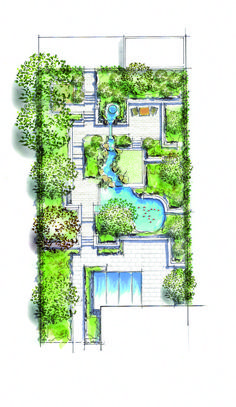 Small gardens Garden ideas Callwey Gartenbuch - # for The Effective Pictures We Offer You About tree Garden Planning A quality picture can tell you many things. Small Garden Plans, Garden Design Plans, Landscape Design Plans, Roof Garden Plan, Roof Plan, Landscape Architecture Drawing, Garden Architecture, Landscape Drawings, London Architecture