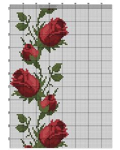 Flower Embroidery Designs, Hand Embroidery Stitches, Cross Stitch Rose, Cross Stitch Flowers, Holiday Crochet Patterns, Baby Cross Stitch Patterns, Needlepoint, Handmade, Instagram