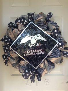 Duck Commander Duck Dynasty Inspired Camo Polka Dot Mesh Wreath by TowerDoorDecor, $65.00