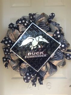 Duck Commander Duck Dynasty Inspired Camo Polka Dot Mesh Wreath by TowerDoorDecor, $65.00