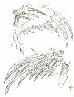 Wings, cool, bones, skeleton; How to Draw Manga/Anime