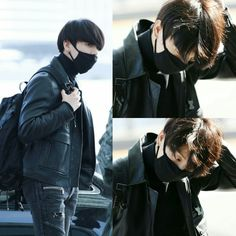 Jungkook black outfit