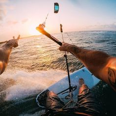 Photo of the Day! When the sun goes down after a long day #kiteboarding, @oronkessel says ✌️ out! #GoPro #Kite #KiteSurfing #DominicanRepublic #DR #followback #FF #photo