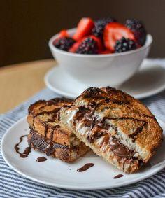 Hot Baked Nutella & Cream Cheese Sandwich