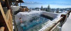 Las piscinas son para el invierno: Le Crans Hotel & Spa (Suiza)