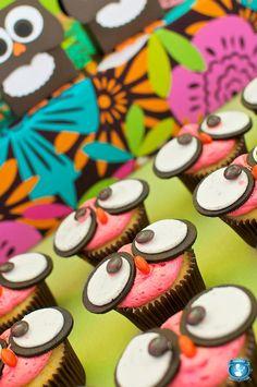 cupcake coruja