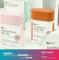 The Dieline Package Design Awards 2013 Winners. The Dieline Package Design Awards are a worldwide competition devoted exclusively to the art of brand packaging. The 2013 competition received over 1100 entries from 61 countries around the world. Drug Packaging, Medical Packaging, Skincare Packaging, Cool Packaging, Bottle Packaging, Brand Packaging, Blister Packaging, Types Of Packaging, Web Design
