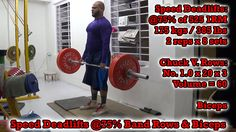 Speed Deadlifts @75% Band Rows & Biceps: http://youtu.be/BLcGqHInkp0