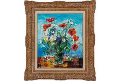 Oil Painting, Bouquet on OneKingsLane.com