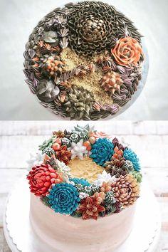 Les jolis gâteaux décorés façon terrarium sont super beaux, très bien faits et ça tombe bien: c'est la nouvelle mode sur Instagram!
