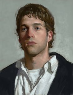 Jamin LeFave: Self Portrait - this is probably oils... but I can see how it may have be pastels