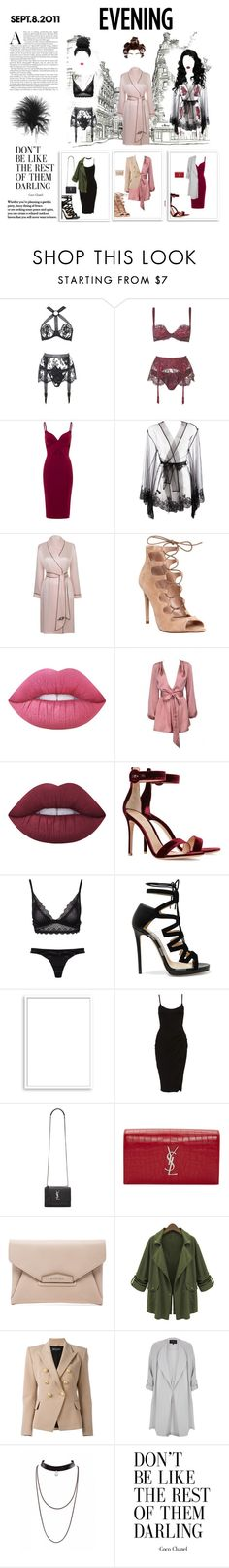 """""""Getting Reading"""" by mickie-pcosta ❤ liked on Polyvore featuring Agent Provocateur, I.D. SARRIERI, Office, Lime Crime, Gianvito Rossi, Wonderland, Jimmy Choo, Bomedo, Yves Saint Laurent and Givenchy"""