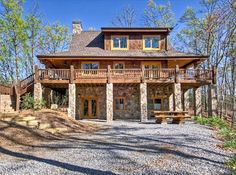 Awesome Creek Cabin Rental $135/Night 1 BR Cabin In Blue Ridge Fightingtown  Creek Frontage Outdoor Fire Pit On The Water Gas Grill Rocking Chairs U2026