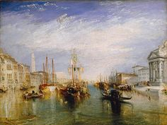 Venice, from the Porch of Madonna della Salute, ca. 1835  Joseph Mallord William Turner (English, 1775–1851)  Oil on canvas.  And soon this will be hanging right above our entryway table.