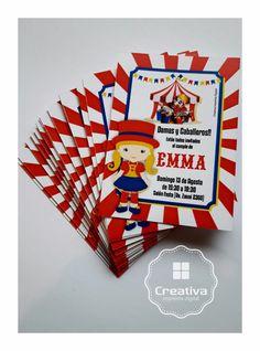 Circo para Emma  #partyKids #Circo #invitaciones