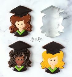 Learn how to make decorated sugar cookies that look like a female graduate -- perfect for graduation!