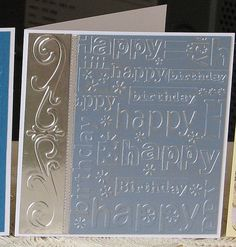 A card for the boys & embossed border and birthday embossing folder. A card for the boys & embossed border and birthday embossing folder. The post A card for the boys & embossed border and birthday embossing folder. Homemade Birthday Cards, Birthday Cards For Boys, Masculine Birthday Cards, Bday Cards, Valentines For Boys, Masculine Cards, Happy Birthday Cards, Homemade Cards, Male Birthday