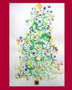 我們看到了。我們是生活@家。: 帶著小朋友一起印出一棵聖誕樹!來自部落格Creativity First。