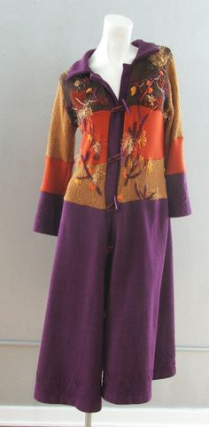 Upcycled sweatercoat, Unique recycled sweater coat by Symphonyofcolors on Etsy