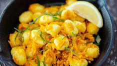 Poêlée de gnocchis au potimarron : découvrez les recettes de cuisine de Femme Actuelle Le MAG Cauliflower, Shrimp, Vegetables, Food, Gnocchi, Dish, Eten