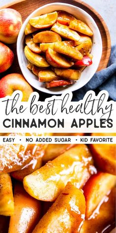 Recipes Snacks Easy Healthy Cinnamon Apples are an easy and delicious fall treat. Eat them as dessert, as a healthy snack or even as a side dish with dinner. Also great for Thanksgiving or Christmas! These are sugar free for Trim Healthy Mama (THM E). Wallpaper Food, Le Diner, Fall Treats, Healthy Christmas Treats, Thanksgiving Snacks, Healthy Thanksgiving Recipes, Healthy Meal Prep, Healthy Food List, Healthy Mind