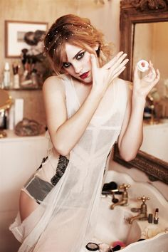 Emma Watson hair and make up gorgeous! Photograph by ellen von unwerth