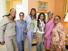 Susan Taylor, Dionne Warwick, Yolanda Adams, Janet Jackson, Nancy Wilson and Shirley Caesar.