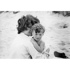 Jackie Kennedy and Caroline in Hyannis Port 1959 #1 by Mark Shaw